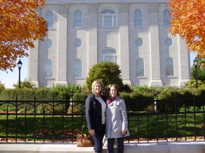 Jen and I outside the Nauvoo Temple.