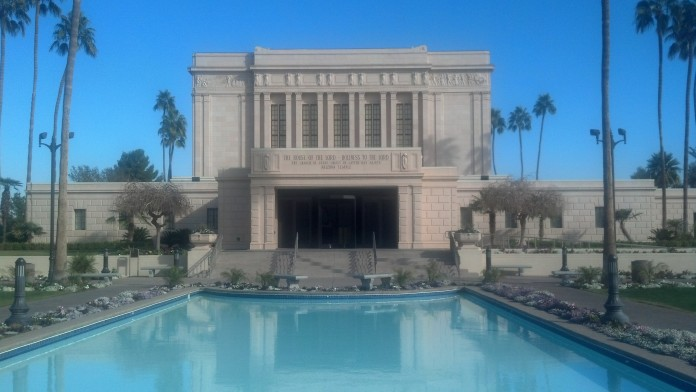 The beautiful Mesa Arizona LDS Temple.