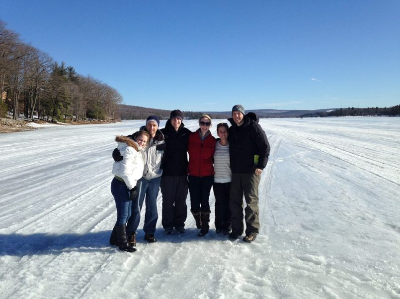 This picture may not seem spectacular to the casual observer until you realize that we're standing in the middle of Deep Creak Lake. It was frozen enough we could walk out into the middle, and even played a friendly game of ladder ball.