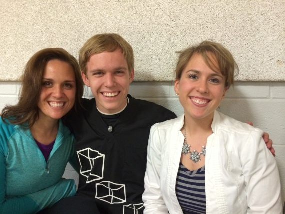 Quick sibling picture at the Winter Drumline performance.