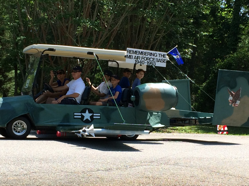 My favorite golf cart in the parade.