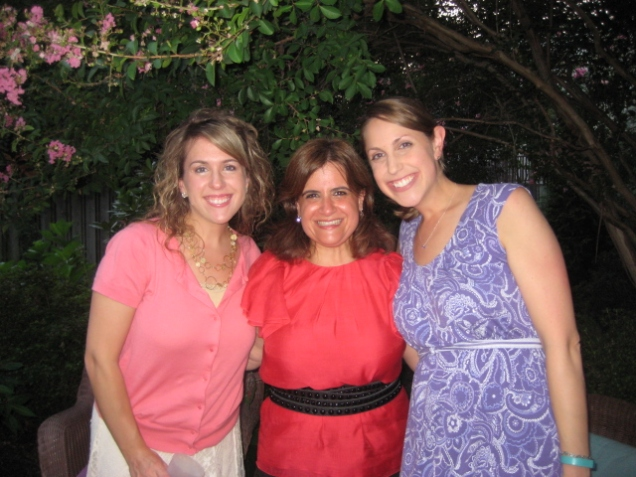 Me, Marimar, and Karyn at Marimar's going away dinner (on a very humid Virginia evening).