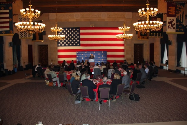 This is probably my favorite room at the U.S. Chamber. It's called the Hall of Flags (photo courtesy of Raymond Towle).