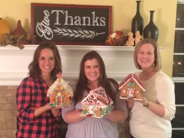 The completed houses of Melissa, Keri, and Jen.