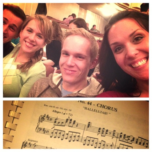 Picture stolen from my Melissa's Instagram at the Messiah Sing-a-long.
