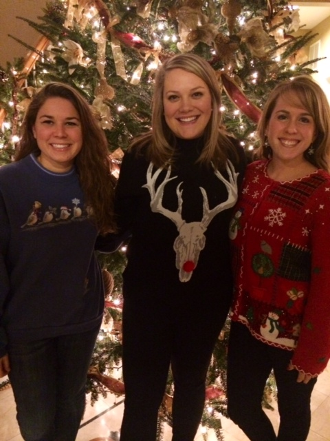 Lucy (my new roommate), Jessica, and myself in front of Sister Bybee's beautiful tree.