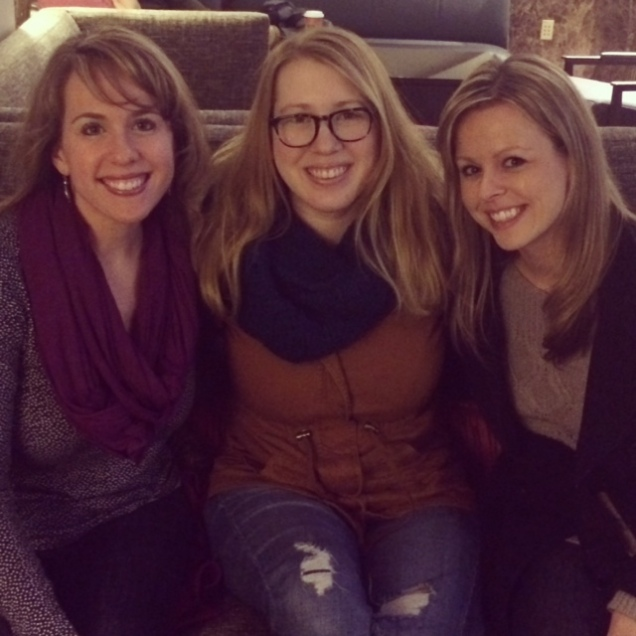 Reunited with best friends from growing up. I love visiting with friends who come back to Virginia for the holidays.