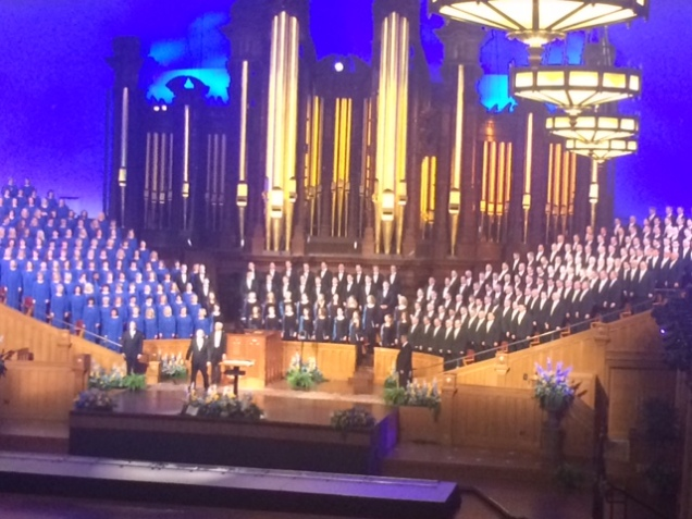 The Mormon Tabernacle Choir.