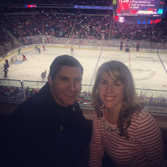 John and I attended a Capitals hockey game. This was my first ever professional hockey game.