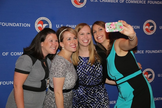 """It's tradition to take a """"staff selfie"""" during the Big Bash."""