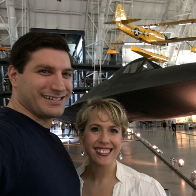 We also spent some time at the Air and Space Museum in Dulles. Here we are in front of the SR-71 spy plane.