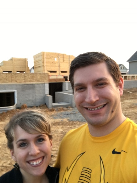 We took many trips out to our house to check on the progress.